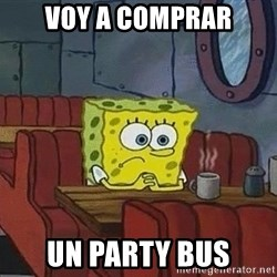 Coffee shop spongebob - voy a comprar un party bus