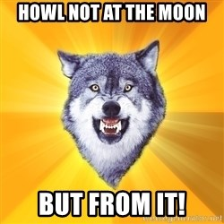 Courage Wolf - HOWL NOT AT THE MOON BUT FROM IT!