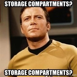 James T. Kirk - storage compartments? storage compartments?