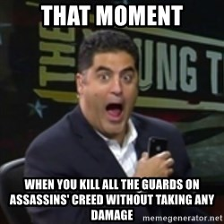 Surprised Cenk - THAT MOMENT WHEN YOU KILL ALL THE GUARDS ON ASSASSINS' CREED WITHOUT TAKING ANY DAMAGE