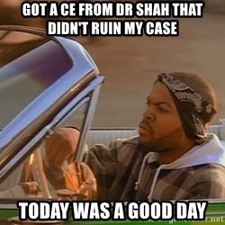 No John Cena on Raw... Today was a good day - Got a ce from dr shah that didn't ruin my case Today was a good Day