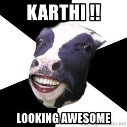 Restaurant Employee Cow - Karthi !! looking awesome