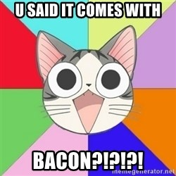 Nya Typical Anime Fans  - U said it comes with bacon?!?!?!