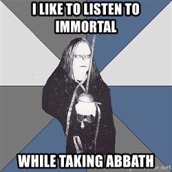 Black Metal Sword Kid - I like to listen to immortal while taking abbath