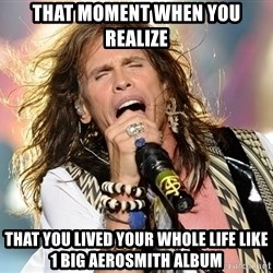 Steven Tyler - That moment when you realize That you lived your whole life like 1 big aerosmith album