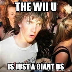 sudden realization guy - The wii u is just a giant ds
