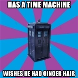 TARDIS Doctor Who - HAS A TIME MACHINE WISHES HE HAD GINGER HAIR