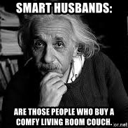 einstein bhai - SMART HUSBANDS: are those people who buy a comfy living room couch.