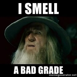 no memory gandalf - I smell A bad grade