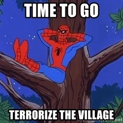 Spiderman Tree - time to go terrorize the village