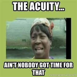 Sugar Brown - The acuity... ain't nobody got time for that