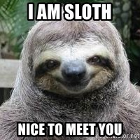 Sexual Sloth - i am sloth nice to meet you