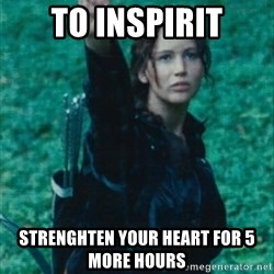 Katniss Three Finger Salute - to inspirit strenghten your heart for 5 more hours