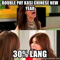 angel locsin - Double pay kasi chinese new year 30% lang