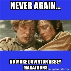 Lord of the Rings - Never again... No more downton abbey marathons