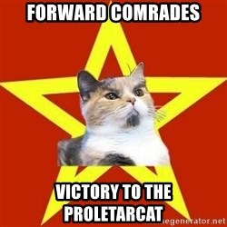 Lenin Cat Red - forward comrades victory to the  proletarcat