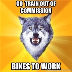 Courage Wolf - go  train out of commission bikes to work