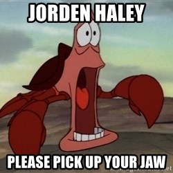jaw dropping crab - jorden haley please pick up your jaw