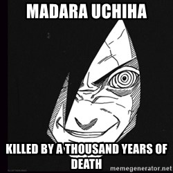 rape face madara - madara uchiha killed by a thousand years of death