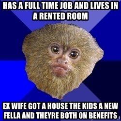 MRA Marmoset - HAS A FULL TIME JOB AND LIVES IN A RENTED ROOM EX WIFE GOT A HOUSE THE KIDS A NEW FELLA AND THEYRE BOTH ON BENEFITS