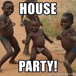 african children dancing - house PARTY!