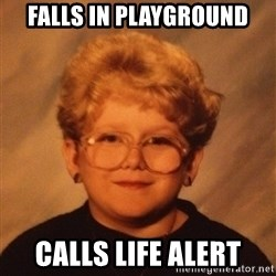 60 Year-Old Girl - Falls in playground calls life alert