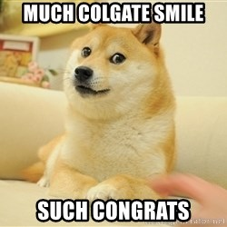 so doge - much colgate smile such congrats