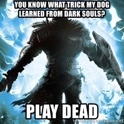 Dark Souls Dreamagus - You know what trick my dog learned from Dark souls? Play dead