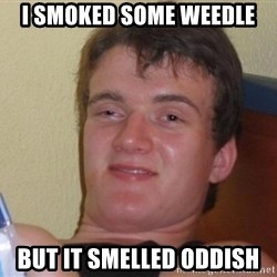 high/drunk guy - I SMOKED SOME WEEDLE BUT IT SMELLED ODDISH