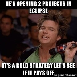 Bold Move Cotton - he's Opening 2 projects in eclipse It's a bold strategy let's see if it pays off