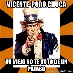 Uncle sam wants you! - VICENTE  PORQ CHUCA TU VIEJO NO TE VOTO DE UN PAJASO