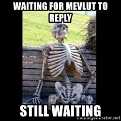 Still Waiting - waiting for mevlut to reply still waiting