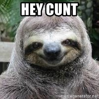 Sexual Sloth - hey cunt