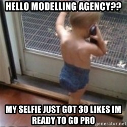 Baby on Phone - Hello modelling agency?? My selfie just got 30 likes im ready to go pro