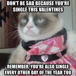 Valentines Day Tard - Don't be sad because you're single this valentines Remember, you're also single every other day of the year too