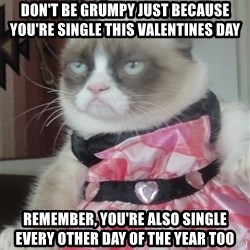 Valentines Day Tard - don't be grumpy just because you're single this valentines day remember, you're also single every other day of the year too