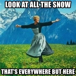 Julie Andrews looking for a fuck to give - look at all the snow  that's everywhere but here