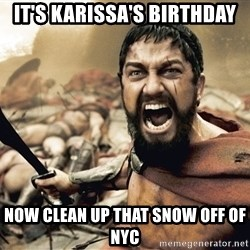 Spartan300 - It's Karissa's Birthday Now clean up that snow off of Nyc