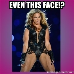 Ugly Beyonce - even this face!?