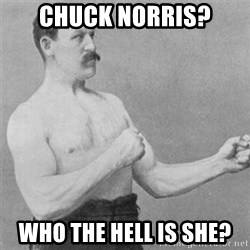 overly manlyman - Chuck Norris? Who the hell is she?