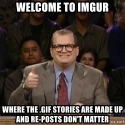 drew carey whose line is it anyway - welcome to imgur where the .gif stories are made up and re-posts don't matter