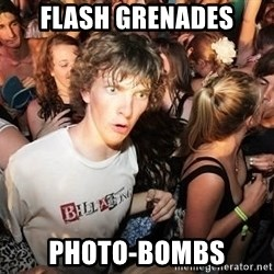 Sudden Clarity Clearence - flash Grenades photo-bombs