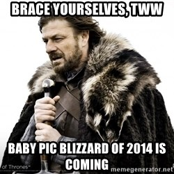Game of thrones sean bean - Brace yourselves, tww baby pic blizzard of 2014 is coming