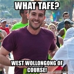Incredibly photogenic guy - WHAT TAFE? WEST WOLLONGONG OF COURSE!