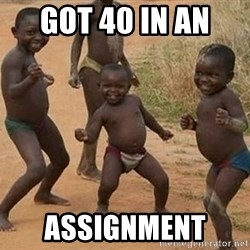 Happy african kids - Got 40 in an  assignment