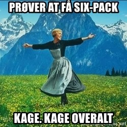 Look at all the things - Prøver at få six-pack Kage. Kage overalt