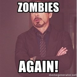 Robert Downey Junior face - zombies again!