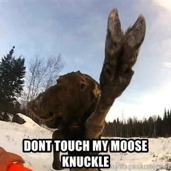 Peace Out Moose -  Dont touch my moose knuckle