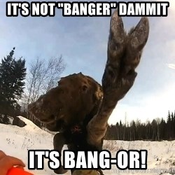 """Peace Out Moose - It's not """"Banger"""" dammit it's bang-or!"""