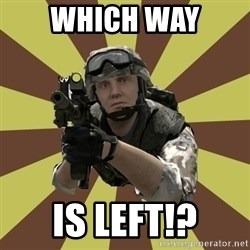 Arma 2 soldier - which way is left!?
